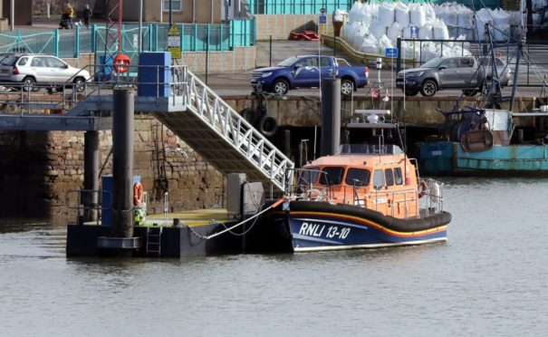 Evening telegraph/ Courier news CR0026422   G Jennings pics , stock pics of Montrose Lifeboat Station, saturday 13th March.