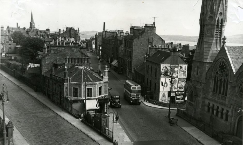 A view of the Sinderins Perth Road Dundee