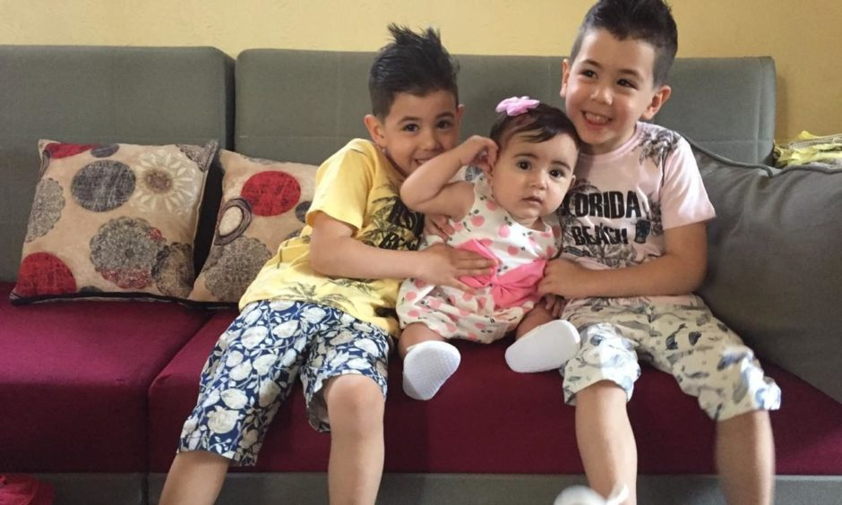 Nadia El-Nakla's nephews, Amjid and Majid, and niece, Layla.