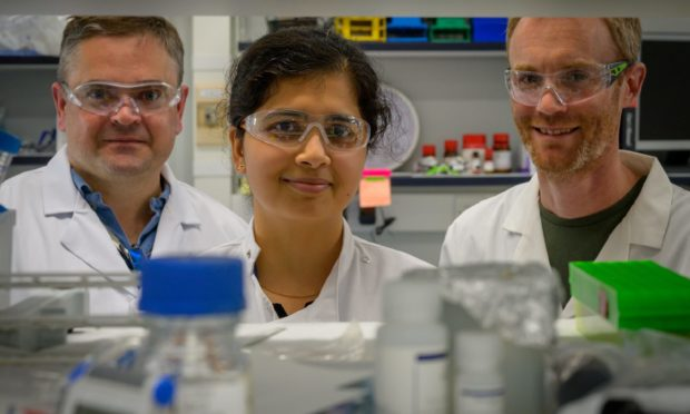 Members of the In4Derm team (from l-r) Dr Andrew Woodland, Dr Rangeetha Jayaprakash, and Dr Mark Bell.