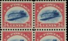The 24c stamp with inverted aeroplane (Sothebys).