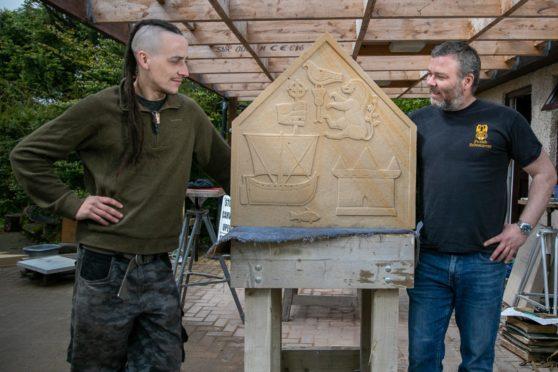 Dean Gowans (left) and David McGovern of Monikie Rock Art.