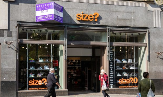 The former Size? Dundee store.