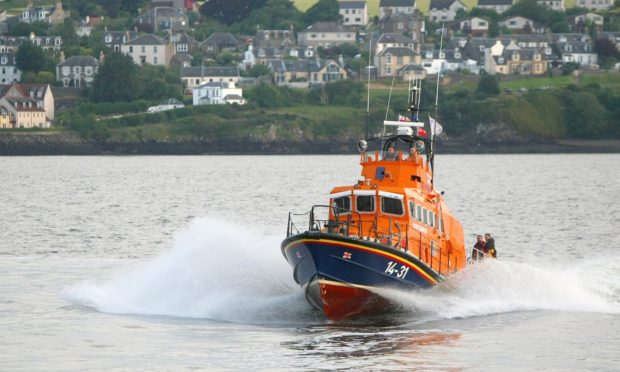 A lifeboat from Broughty Ferry.