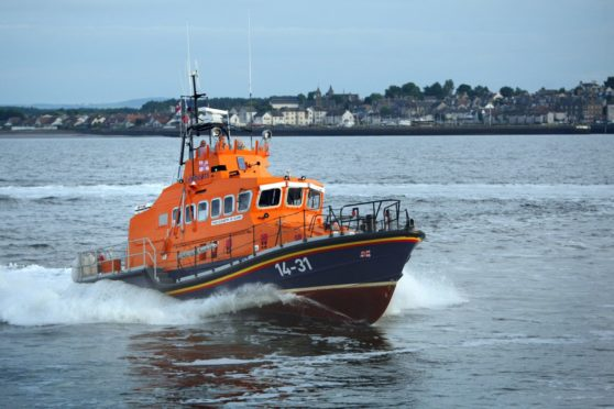 A lifeboat from Broughty Station.
