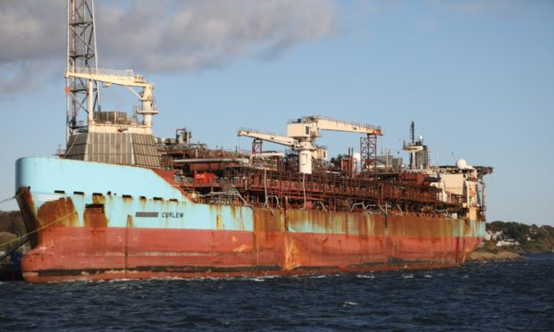 The Curlew ship decommissioned at Port of Dundee.