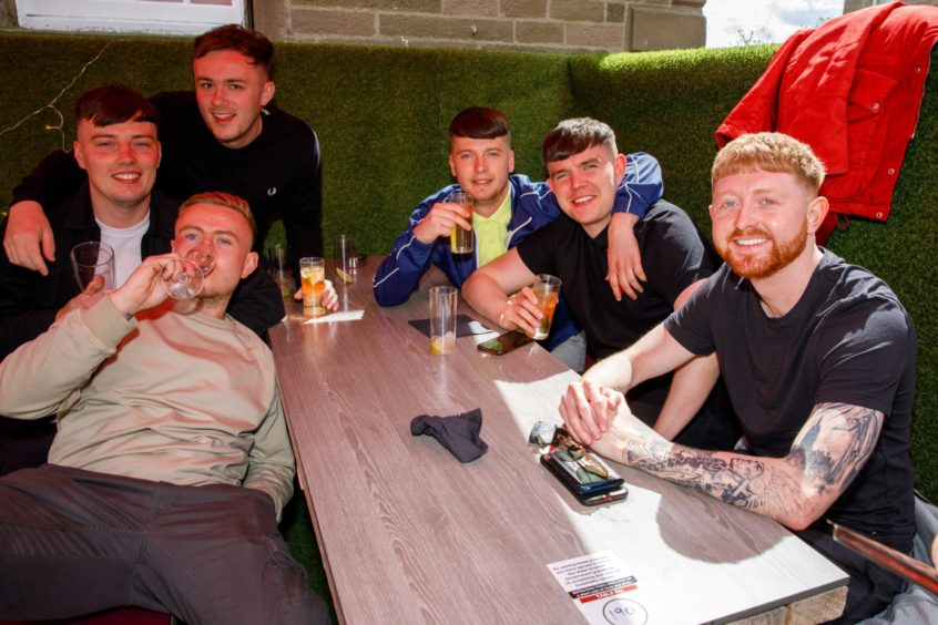 Drinkers out enjoying the atmosphere at The Casa on Perth Road.
