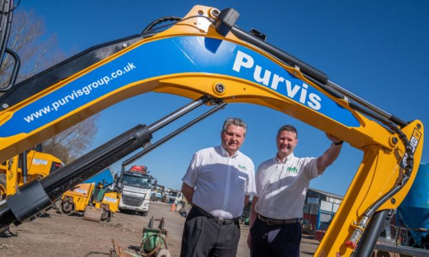 Purvis Group Chairman Bob Purvis and managing director Craig Purvis at the Lochgelly site.