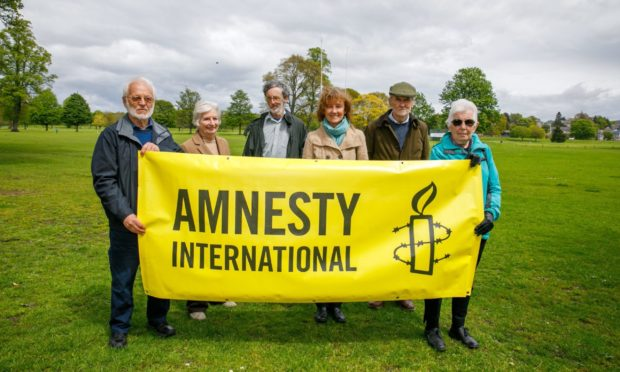 Members John Andrews, Marj Wylie, Peter Cheer, Betsy McQueen, Barrie Rutherford and Jill Pontin.