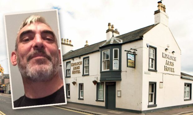 Francis Davie punched his victim outside the Kinloch Arms Hotel, Carnoustie
