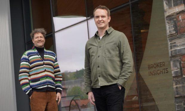 Chris van der Kuyl of Chroma Ventures and Fraser Edmond of Broker Insights.