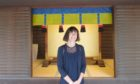 Artist Liz Dulley on one of her visits to shrines and temples in Japan.