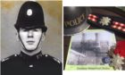police officer unexploded mine