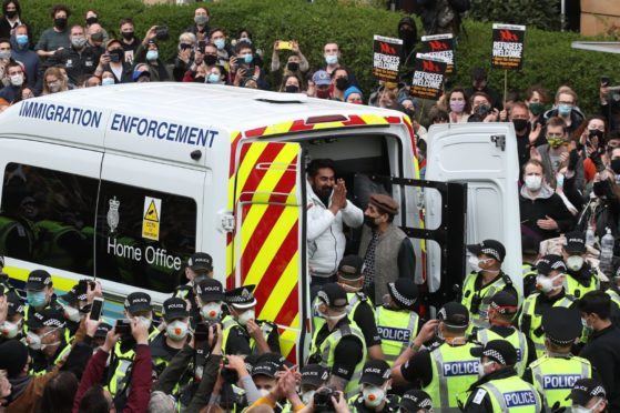 kenmure street glasgow immigration protests