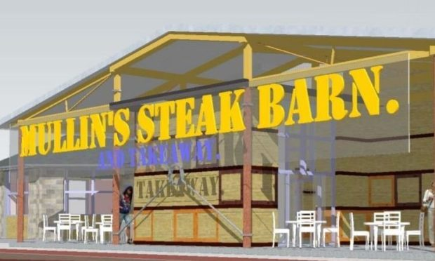 The steak barn and farm shop plan was knocked back by Angus councillors in December.