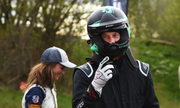 The Duke of Cambridge experienced the thrills and spills of Knockhill race circuit.