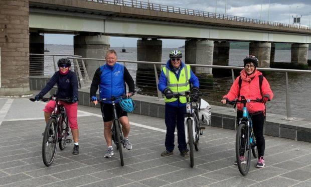 Dundee Rotarians Michelle Lyall, Robert Dunn, Alastair Scott and Wendy Maltman