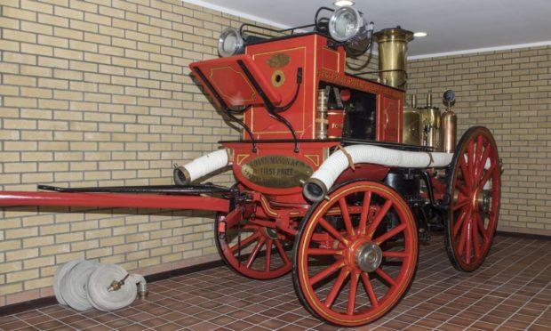Shand Mason steam fire engine at Forfar Fire Station