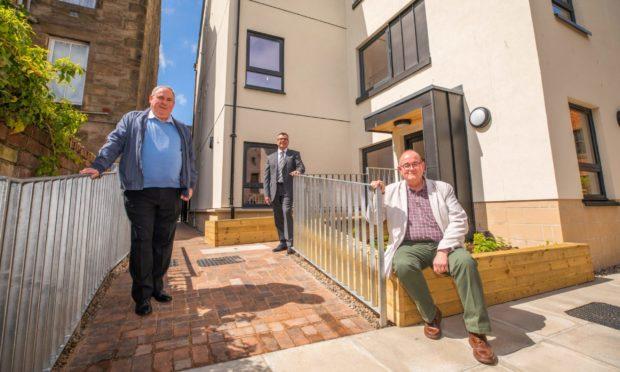 Councillor Chris Ahern, John Baggley of CCG Scotland and Councillor Bob Brawn.
