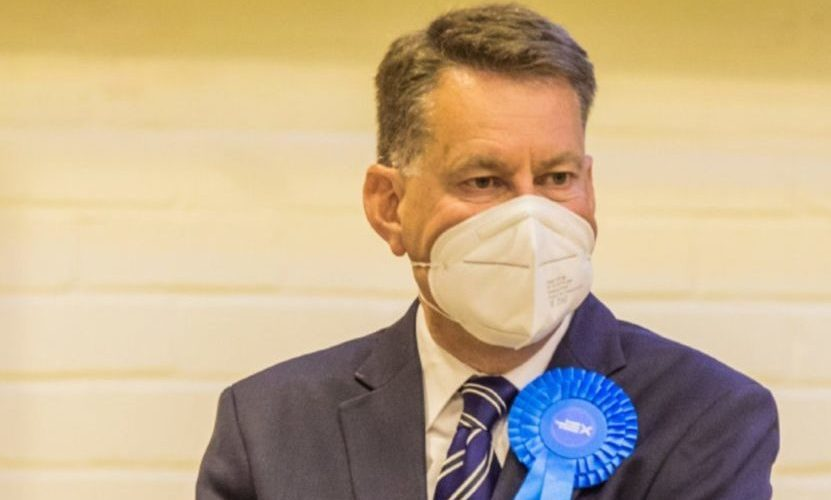Murdo Fraser, pictured at the count in Perth on Friday, was returned on the Mid Scotland and Fife list.