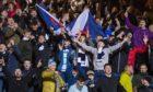 Dundee fans inside Dens Park