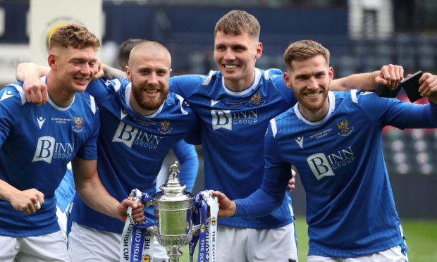Four St Johnstone star men - Liam Gordon, Shaun Rooney, Jason Kerr and Jamie McCart.