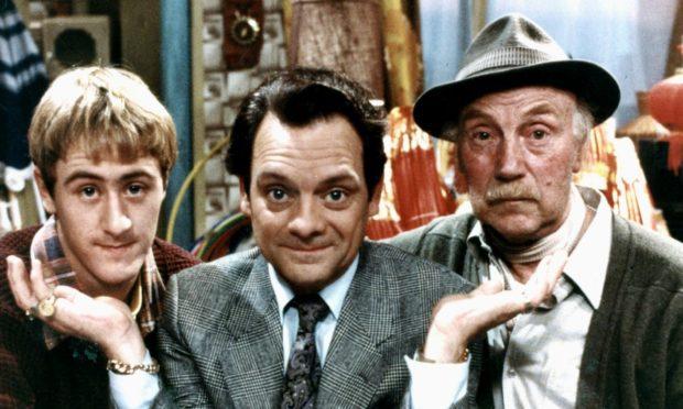 Only Fools' Rodney, Del Boy and Granddad played by Nicholas Lyndhurst, David Jason and the late Lennard Pearce.