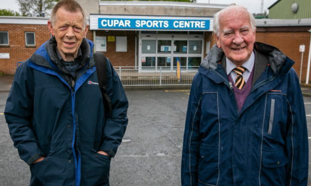 Roddy McLeod and Harry Johnston say Cupar Sports Centre should be open between 10.30 am and 2.30 pm