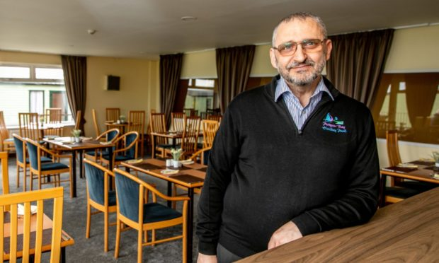 Tommy Wallace at the Estuary Restaurant at Leven Beach Holiday Park.