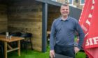 Hotelier Jason Borthwick managed to create the outdoor bar space in just nine days.