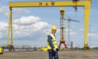 Prince of Wales attended Harland & Wolff to mark the company's 160th anniversary.