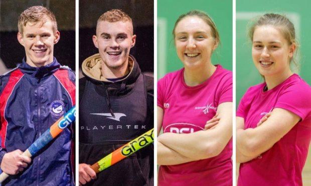 Dundee hockey stars Jamie and Cameron Golden, Emily Dark and Charlotte Watson.