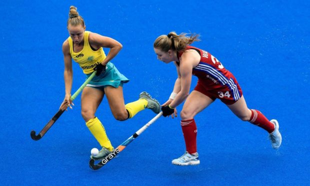 Charlotte Watson in action for Team GB against Australia in Sydney last year before the pandemic struck.