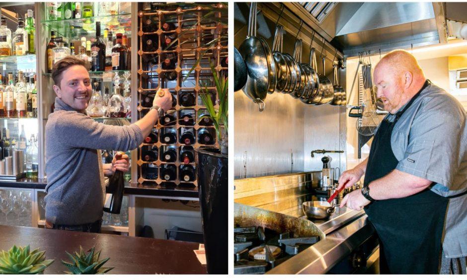 Graeme Pallister and Craig Millar return to work in their restaurants.
