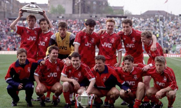 The Aberdeen team which won the cup double.