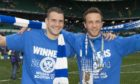 James Dunne with Chris Millar after winning the Scottish Cup in 2014.