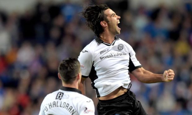 Simon Lappin celebrates his famous Ibrox goal.