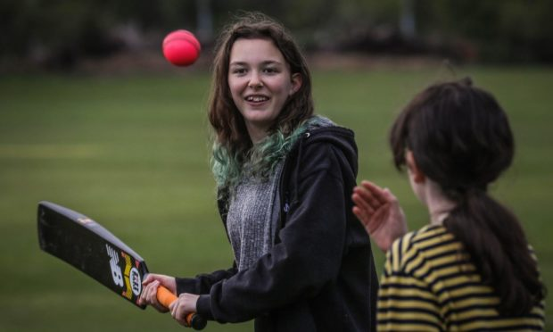 Kaya Eggleton-Hunter, 13, during one of the women and girls sessions at Strathmore.