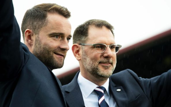 31/05/19 THE KILMAC STADIUM AT DENS PARK - DUNDEE Dundee FC Managing Director John Nelms announces James McPake as the clubs new Manager.