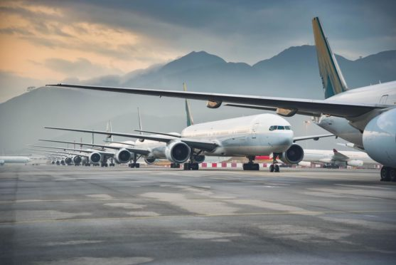 Planes around the world have been grounded due to the pandemic.