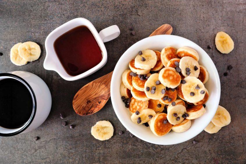 Banana pancake bites.