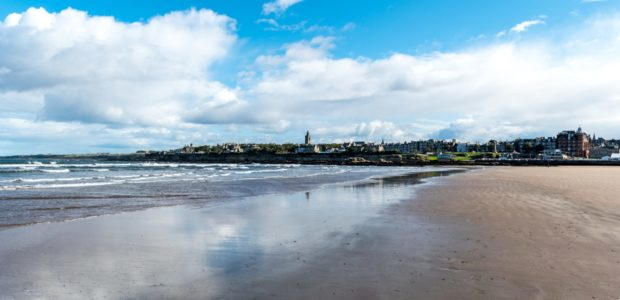 St. Andrews from the Beach; Shutterstock ID 746495164; Purchase Order: Courier; Job: Health and wellbeing team nature for mental health story; 28768c89-6be5-4ace-8f24-91bcb65ecb7d