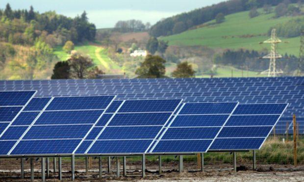 A solar farm in Perthshire.