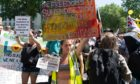 Protestors in London.