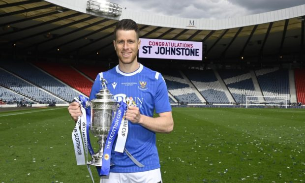 Melamed with the Scottish Cup