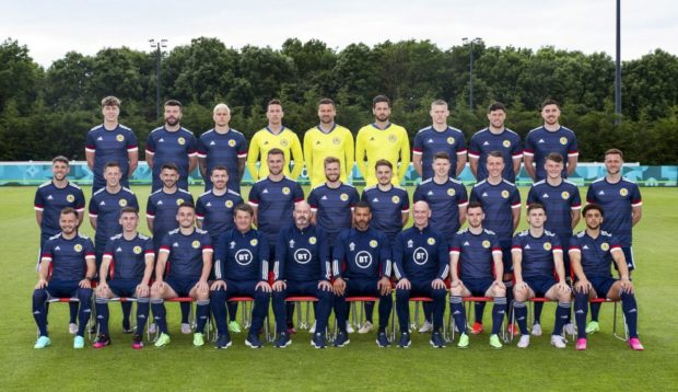 Ready for action. The Scotland EURO 2020 squad are pictured at Rockliffe Park, on June 13
