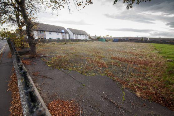 The vacant Kinloch school site.