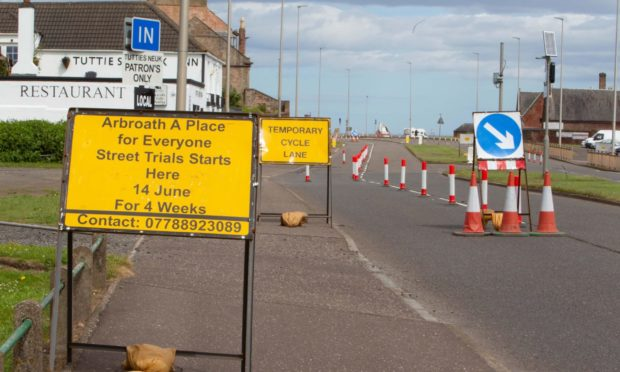 The Arbroath Place for Everyone trial will run for a month.