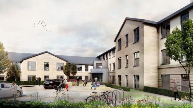 An artist impression of how the new luxury care home in Fife would look.