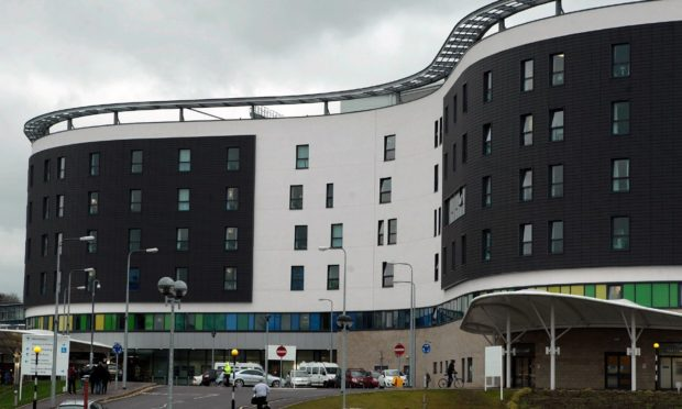 The exterior of NHS Fife Victoria Hospital in Kirkcaldy, Fife.